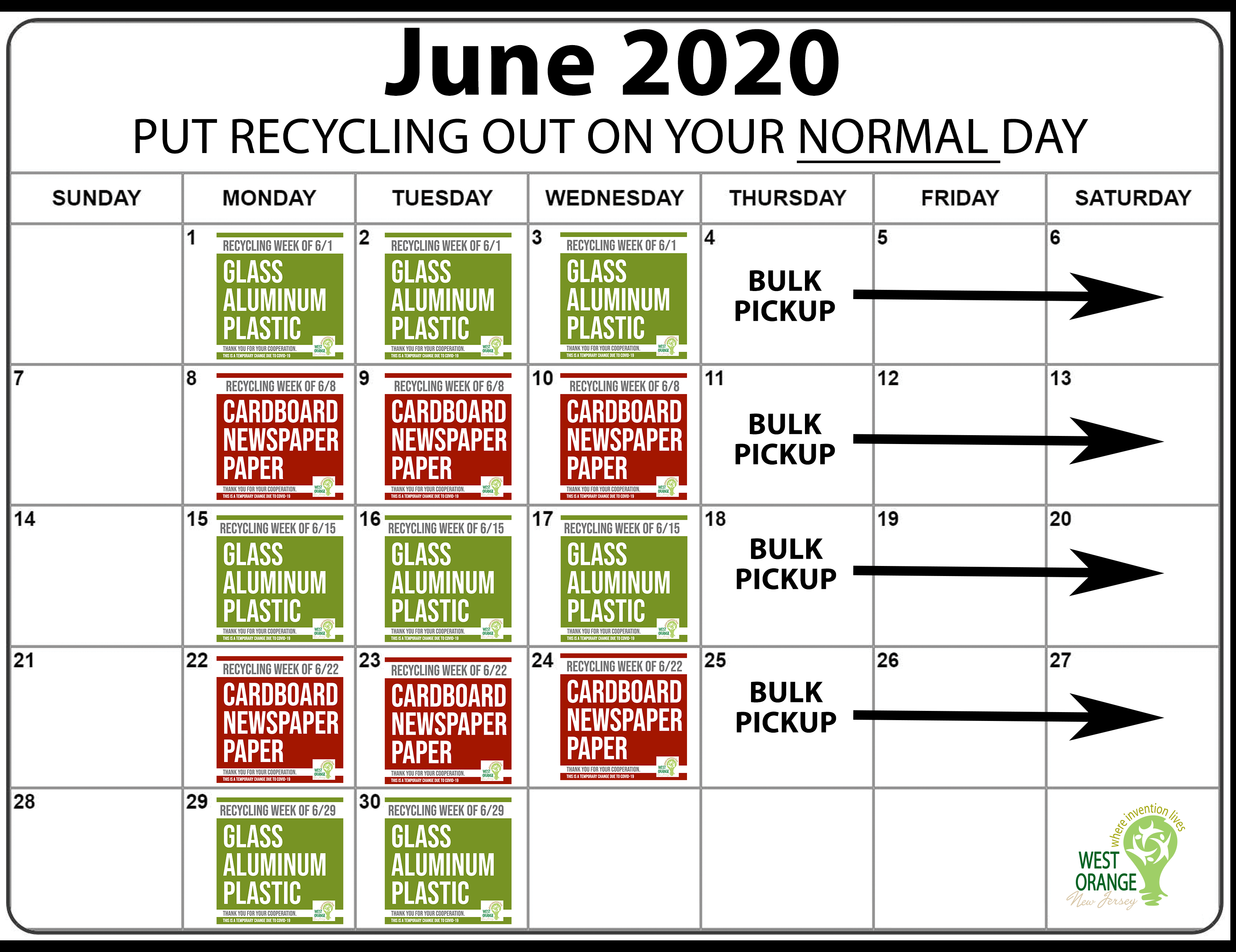 June 2020 WO Recycling