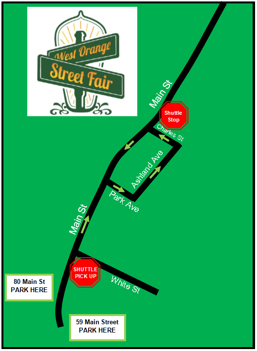 Shuttle Stop Pick up map