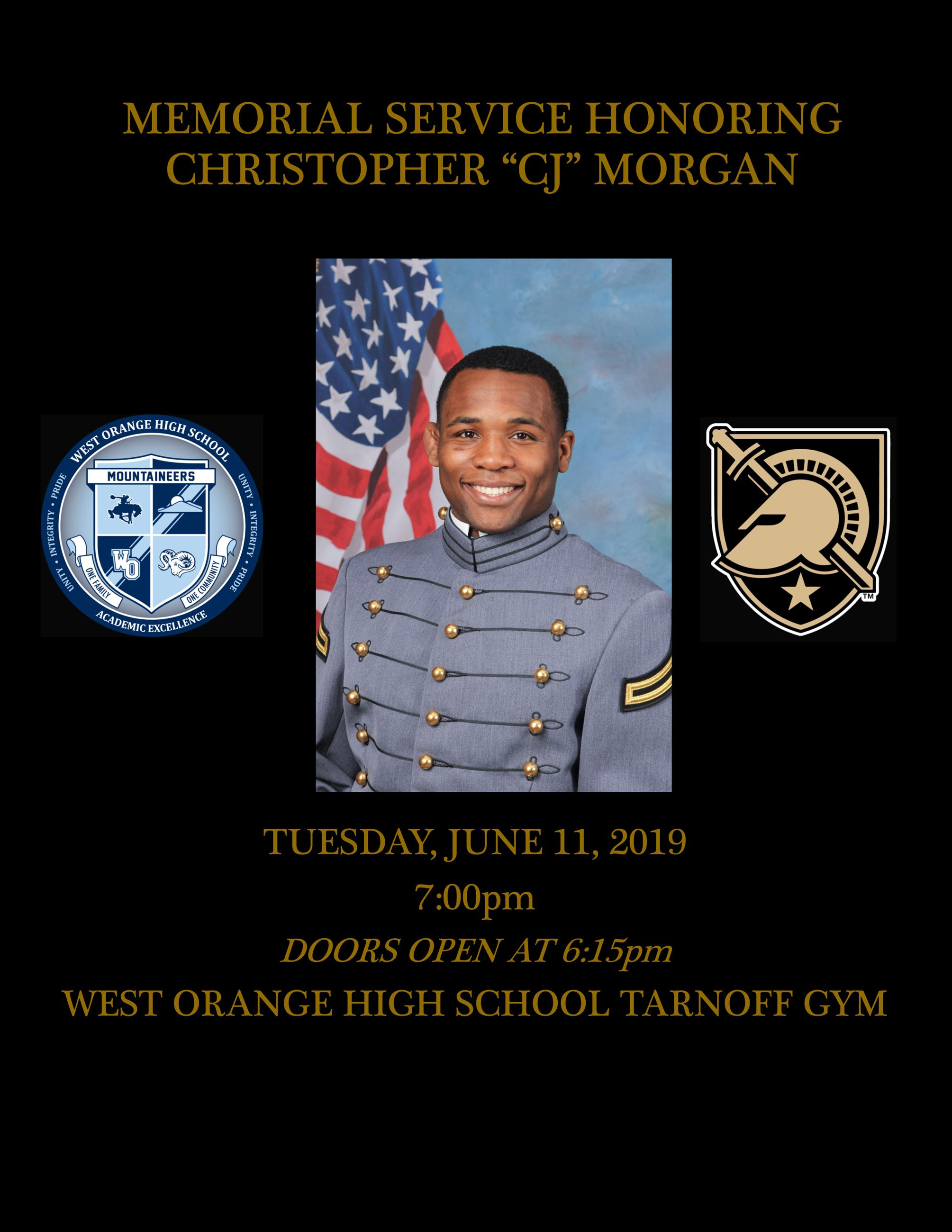 Memorial Service - CJ Morgan