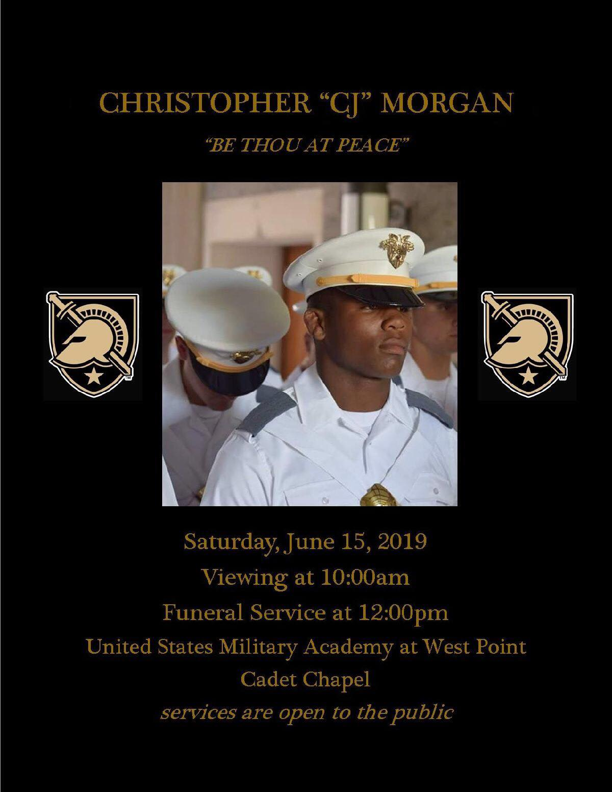 CJ Morgan- Funeral at West Point