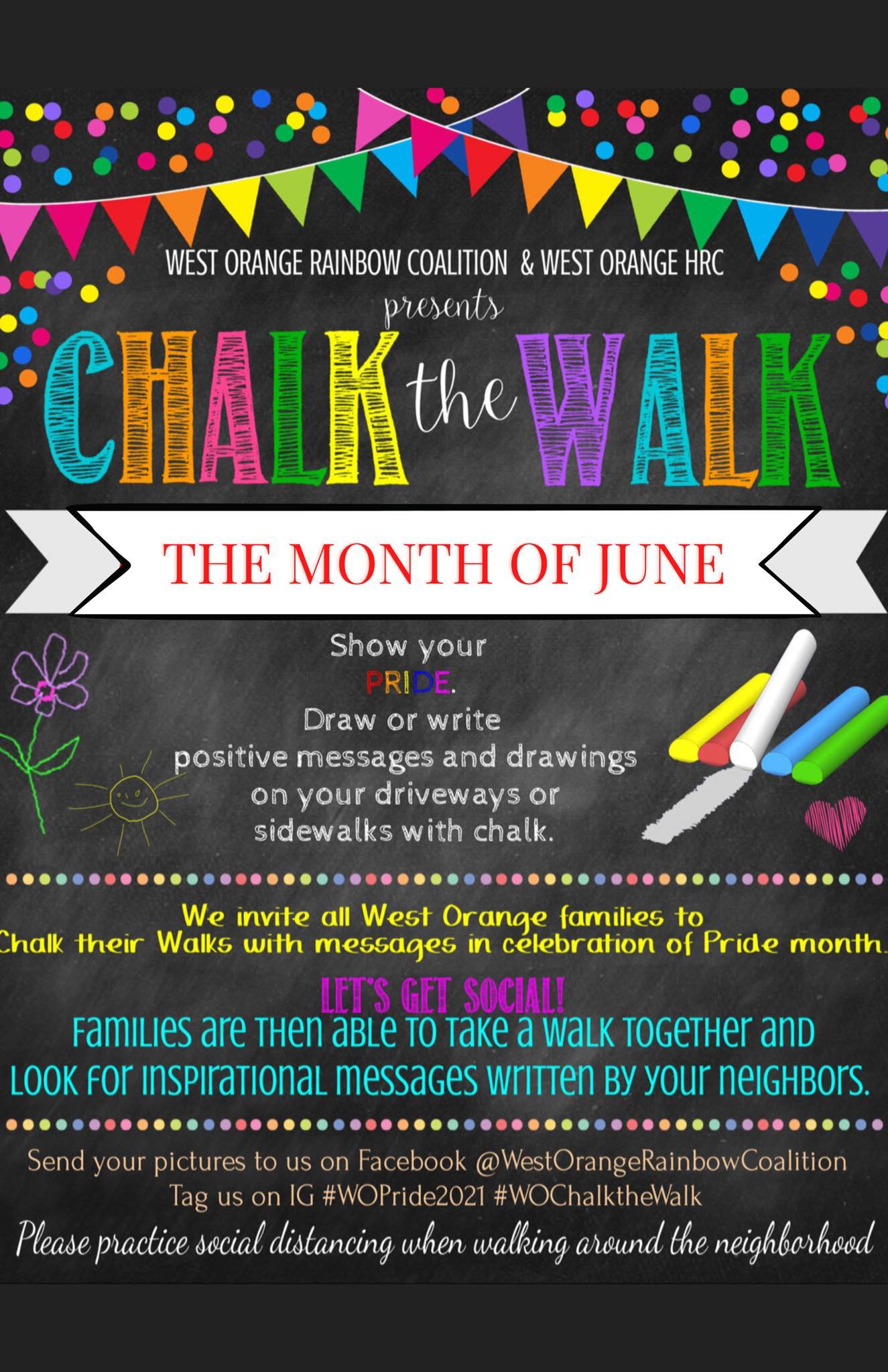 Chalk the Walk Pride 2021